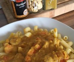 Variation von Rote Linsen-Möhren-Sauce (mit Cashews)