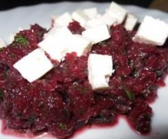 Rote Beete Salat mit Petersilie