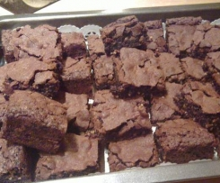 Saftige, super schokoladige Brownies