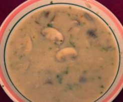 Pilzsuppe (vegan)