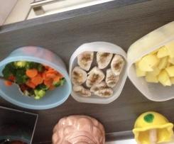 Gedünstetes Gemüse mit Kartoffeln und Pute