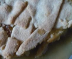 Spontaner gedeckter Apfelkuchen