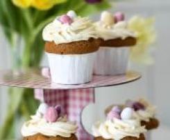 Eierlikör - Cupcakes mit Osternest