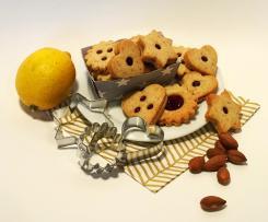 Omas Spitzbuben (Linzer Augen mit Mandeln und Zitrone)