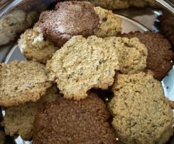 Haferkekse, Hafercookies (vegan)