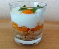 Käse-Sahne-Kuchen im Glas