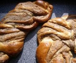 Nusszopf / Mohnzopf - riesengroß, wie vom Bäcker