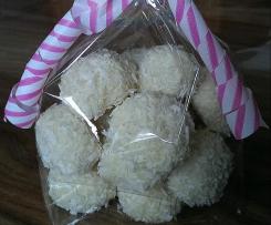 Pralinen mit weißer Schokolade und Kokos