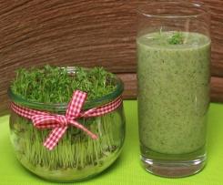 Grüne Smoothies mit Kresse,  Vegan