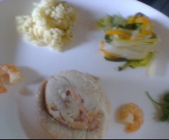 Fischrouladen mit Gemüse