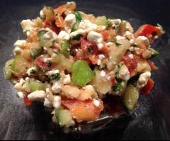 Hüttenkäse-Apfel-Paprika-Gurken Salat / Low carb