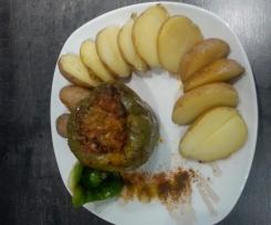 Gefüllte Paprikaschote mit Lamm - Poivrons farcis avec l'agneau - Stuffed lamb peppers
