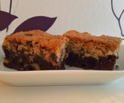 Brookies - Brownies mit Cookiekruste