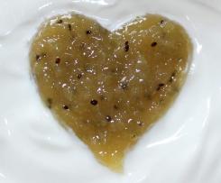 Fruchtige Kiwi-Rhabarber-Marmelade