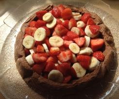 Erdbeer und Bananen Maulwurfkuchen