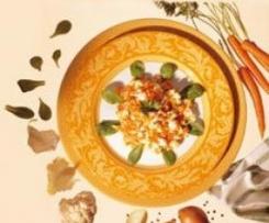 Blumenkohl mit Möhren und Feldsalat