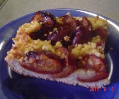 Pflaumenkuchen nach Omas Art mit Streuseln und Quarkteig