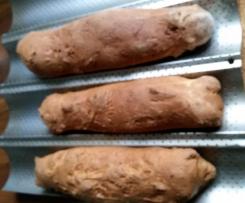 Weizenbrot nach Schweizer Art als Baguette