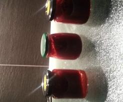 Himbeer-, Apfel, Bananenmarmelade