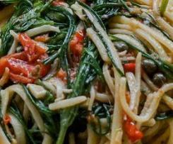 Spaghetti mit Mönchsbart / Pasta Agretti