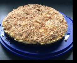 Schoko-Kirschkuchen mit Kokosraspeln