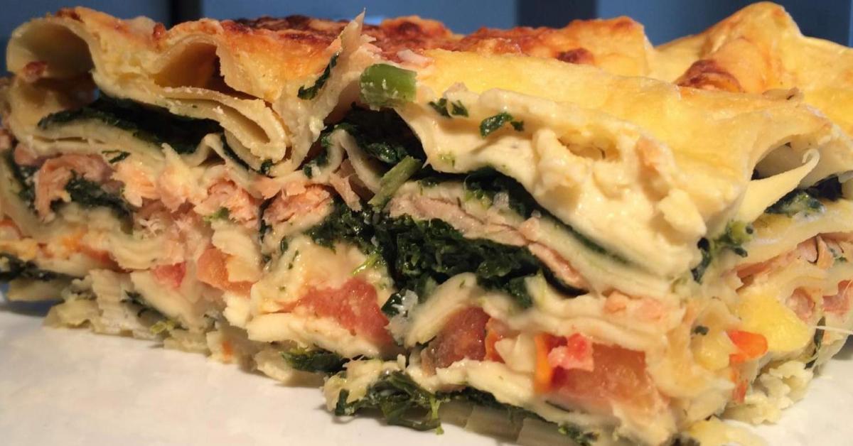 Spinat Lachs Lasagne Mit Räucherlachs Von Lealiebtslecker Ein
