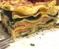 Spinat-Lachs-Lasagne mit Räucherlachs