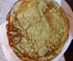 Grundrezept Pfannkuchen, Crepes, Eierpfannkuchen / Pfannkuchen herzhaft