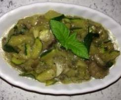 Schnelles Zuchini-Champignon-Gemüse