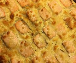 Lachspizza, Pizza mit Lachs