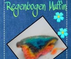 schnelle Regenbogen Muffins