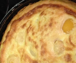 Pfirsich Kuchen mit Baiserhaube