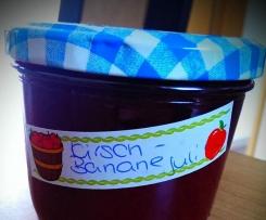 Kirsch- Bananen Marmelade a la Jessy