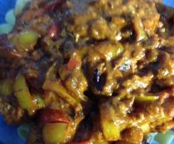 Paprika-Tomaten-Schnitzel / Überbacken