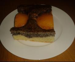 Mohn-Pfirsich-Kuchen