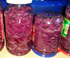 Rotkohl / Blaukraut zum Einmachen nach Mutti's Art (mit einfachen Zutaten)