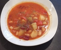 Rote Bohnen Kartoffelsuppe