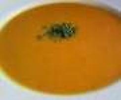 Cremige Süßkartoffelsuppe