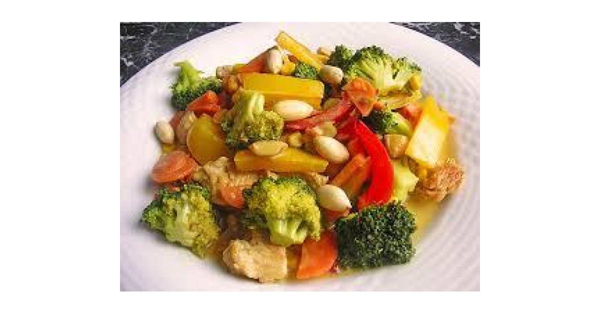 Hähnchen mit Gemüseplatte und heller Sauce von Eddy2020. Ein ...