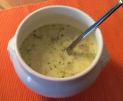 Geflügel-Lauch-Suppe mit Schmelzkäse