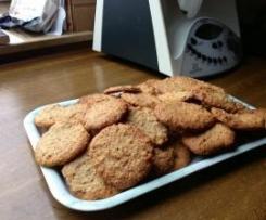 Variation von Haferflocken-Nuss-Kekse