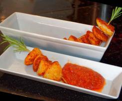 Tapas - Röstkartoffeln mit Tomaten-Chili-Dip