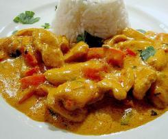Afrikanisches Huhn mit Reis
