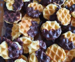 Butterplätzchen aus dem Waffeleisen