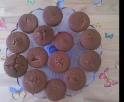 Saure Sahne Muffins mit Nougatkern