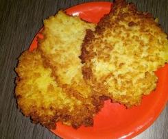 Variation von Kartoffelpuffer / Reibekuchen vom Blech