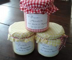 Pfirsisch-Marmelade mit Vanille und Thymian
