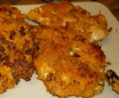 Putenschnitzel mit Möhrenkruste