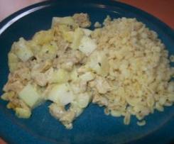 Pastinaken-Birnen-Curry (vegan)