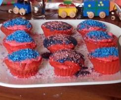 Möhrenkuchen Muffins mit Frischkäse-Topping ohne Butter